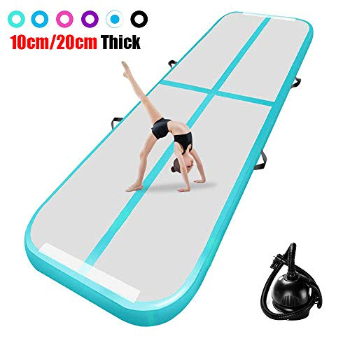 airtrack matte 10cm hoch 4M Aufblasbare turnmatte AirTrack Gymnastik Yogamatte Taekwondo Camping Trainingsmatte mit elektrischer Pumpe -