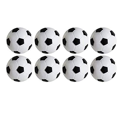 Jeu de Foosball de football de table, paquet de 8PCS (noir et blanc, 32mm / 1.26 IN) par Yeelan