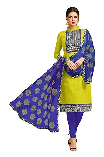 Oomph! Cotton Dress Material for Women Party Wear - Salwar Suit Unstitched...