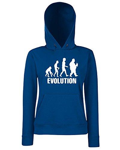 T-Shirtshock - Sweats a capuche Femme EVO0042 Man Evolution Maglietta Bleu Navy