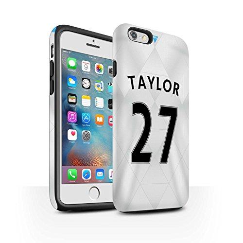 Offiziell Newcastle United FC Hülle / Matte Harten Stoßfest Case für Apple iPhone 6+/Plus 5.5 / Pack 29pcs Muster / NUFC Trikot Away 15/16 Kollektion Taylor