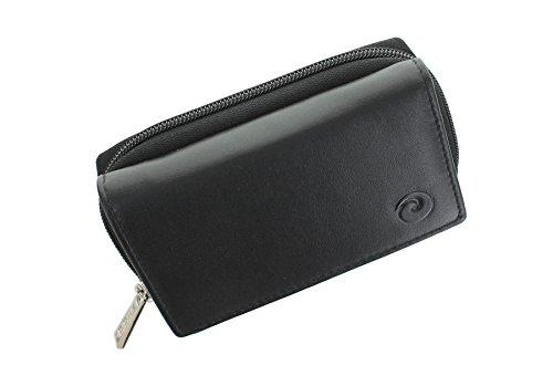 Mala ORIGIN Kollektion Leder Geldbörse Geldbeutel, mit Münzablage und RFID-Schutz 3317_5 Schwarz