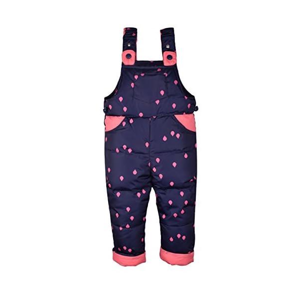 ZOEREA Chaquetas de Esquí para Bebé Niñas Traje de Nieve Abrigoscon Capucha + Pantalones + Bufanda Invierno Acolchado… 5
