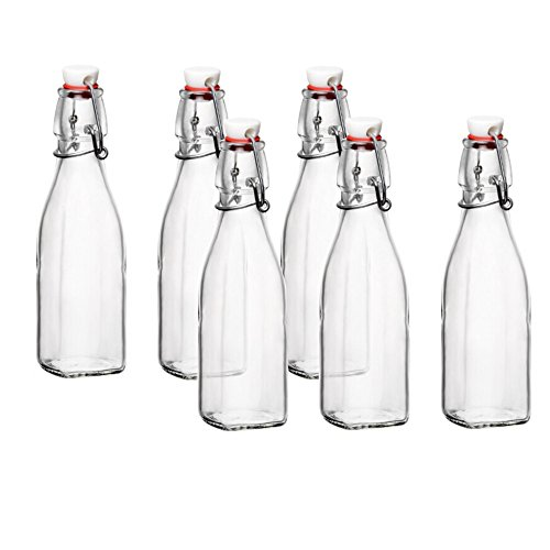 Bormioli Rocco Glas Swing Top Flasche - 8 Unze 6er-Set