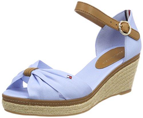 Tommy Hilfiger Damen Iconic Elba Sandal Espadrilles, Blau (Chambray Blue 407), 36 EU (Chambray Schuhe)