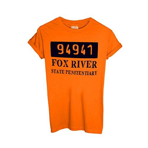 T-Shirt PRISON BREAK FOX RIVER 94941 - FILM by Mush Dress Your Style - Uomo-XXL-Arancione