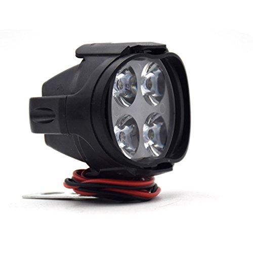 PerGrate 2 Stücke Super Helle Motorrad LED-Scheinwerfer Lampe Roller Nebelscheinwerfer Arbeitsscheinwerfer Licht 12 Watt - Für Scheinwerfer Roller