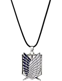 TBOP NECKLACE Anime Surroundings Attack Giants Corps Logo Alloy Necklace In Silver Blue Color
