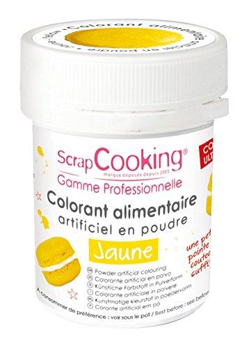 Colorant artificiel en poudre Jaune, Scrapcooking