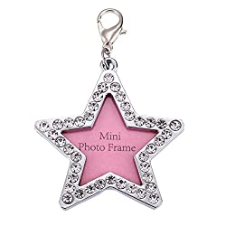 Rrimin Pet Dog Name Card Anti Lost Dog ID Address Name Label Tag (Star Shaped)