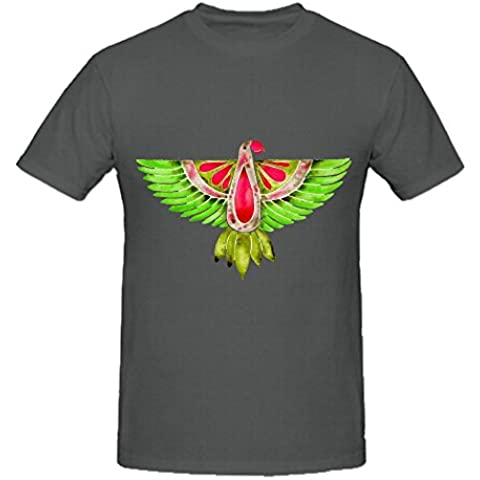 Lovebird Parrot Mens Crew Neck Art Shirt XXXX-L