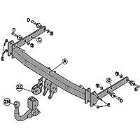 Swan Neck Tow Bar Brink Towbar for Ford Kuga I 2008-2013