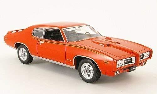 Pontiac GTO, The Judge , 1969, voiture miniature, Miniature déjà montée, Welly 1:24