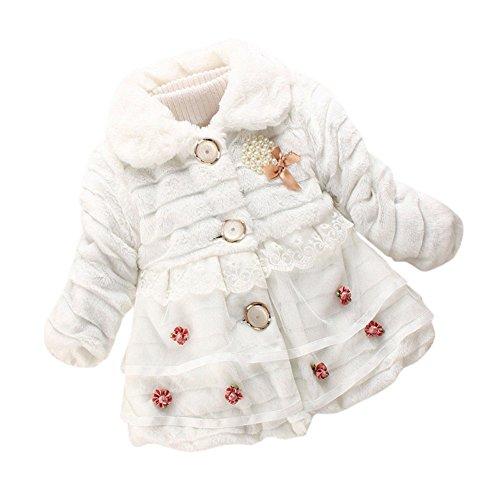 Neonata Faux Fur bambini Giaccone caldo pile cappotto 0-5 Anni