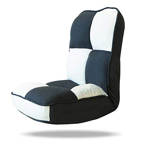 XIAOYAN Klappstuhl Lazy Couch Einzelne Rückenlehne zum Anschauen von Computerlesespielen Seat 3 Farben (Farbe : SCHWARZ) -