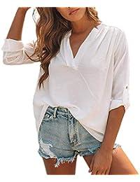 Amazon.it: camicia lino Bluse e camicie T shirt, top e