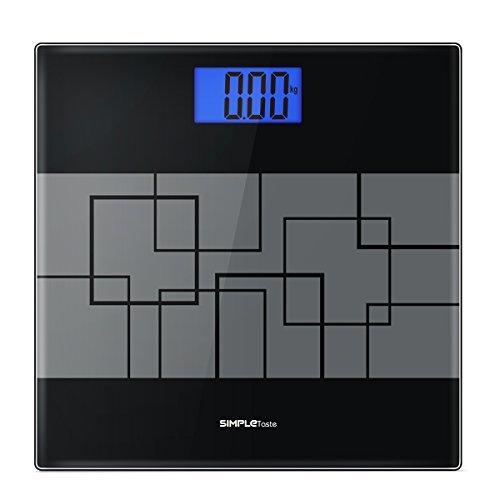 1byone  Digitale Personenwaage Waage Digitalwaage Einfach Geschmack Digital Body Gewicht Maßstab mit Hintergrundbeleuchtung großes Display -