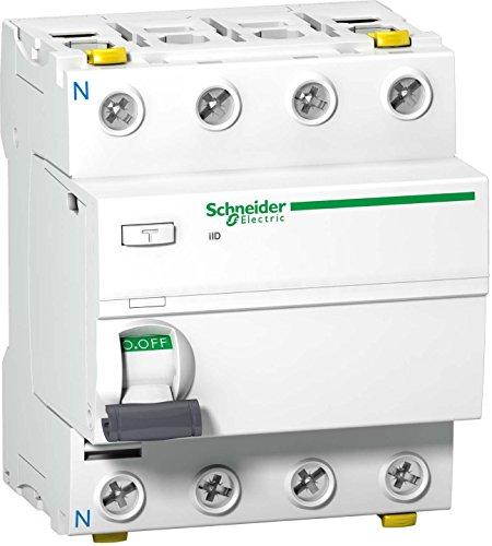 Schneider A9Z35480 Fehlerstrom-Schutzschalter iID, 4P, 80A, 300mA, Typ A, SI