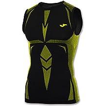 Joma Brama Emotion - Camiseta de tirantes, unisex, color multicolore - multicolore - noir/jaune, talla S-M