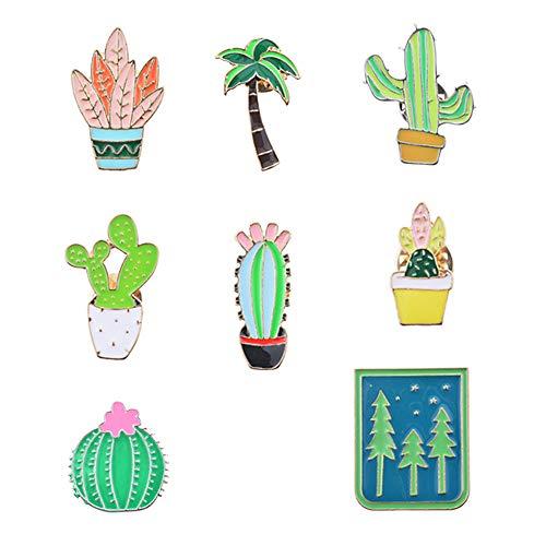 Roblue Damen-Brosche in Kaktusform, Dekoration, Kleidung, Hose aus Legierung, 8 Stück (Kostüm Schmuck Broschen Uk)