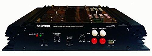 Verstärker (2 Kanäle, 400 W, Mosfet, Hpf Lpf Connection/gold (200 Watt Car-audio-verstärker)