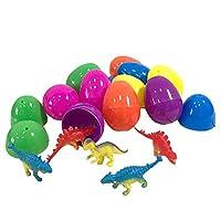 Welltobuy easter favours for kid Easter Eggs with Toys Inside Transparent Pullback Car Dinosaur Doll Innovative