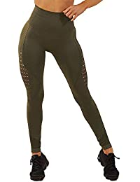 395dce68417c30 FITTOO Women Sexy Hollow Out Lace Patchwork High Waist Slim Yoga Pants Workout  Fitness Gym Leggings