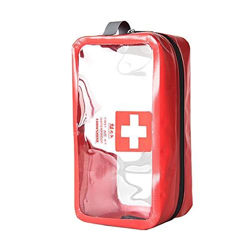 Sanmum Transparent Erste Hilfe Tasche Notfalltasche, Leer First Aid Pouch Bag Medizinisch Tasche Dry Bag