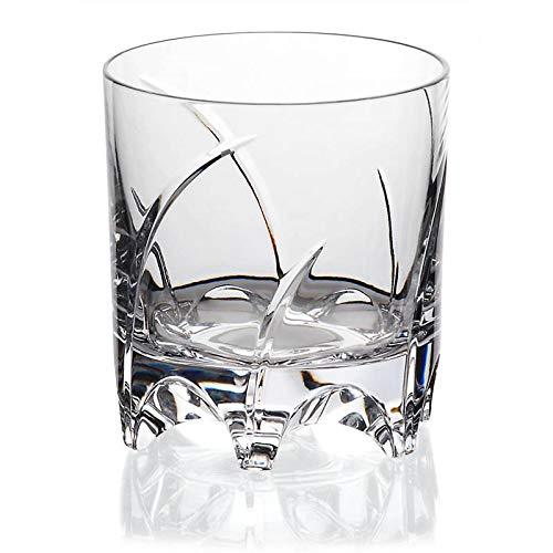 CRISTALICA Whiskyglas Drehbecher German Roulette München Transparent aus Bleikristall 225 ml