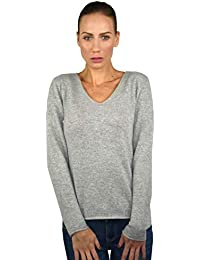 832bdd417 Pullover Cuello en V 1st American 100% Cashmere Made in Italy- Jersey para  Mujer