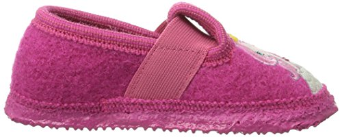 Giesswein Tilleda, Chaussons fille Rose (364 Himbeer)