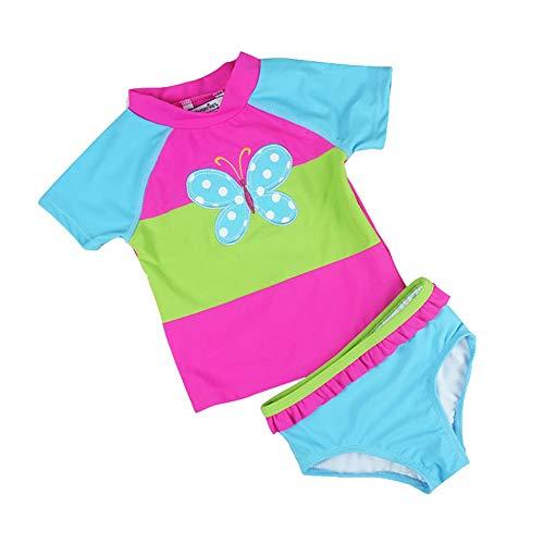 Bañador de baño de dos piezas para niñas Niñas Niños 2pcs Mariposa traje de baño de impresión...