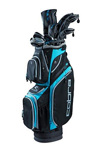 Cobra Golf Damen 2019 F-Max Superlite Komplettset, Herren, Golf 2019 F-Max Superlite Complete Set, Black-Lexi Blue