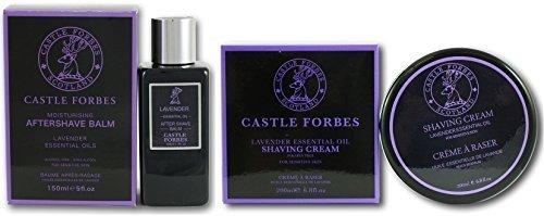 castle-forbes-huile-essentielle-de-lavande-150ml-baume-apres-rasage-et-200ml-creme-de-rasage-set