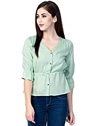 Shinoy Womens Rayon Solid Festival Top
