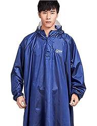 Imperméables Cape Manteau de pluie Poncho à manches longues pour cyclisme vélo bicyclette vélo Voiture électrique etc. - avec sac à main pour placer l'imperméable (Bleu)