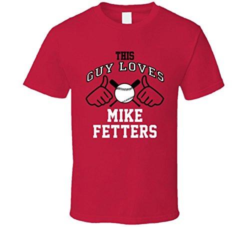 This Guy Loves Mike Fetters Arizona Baseball Player Classic T Shirt Large (Arizona Classic Shirt)