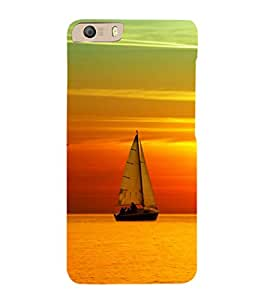 printtech Sunset Ship Back Case Cover for Micromax Canvas Knight 2 E471