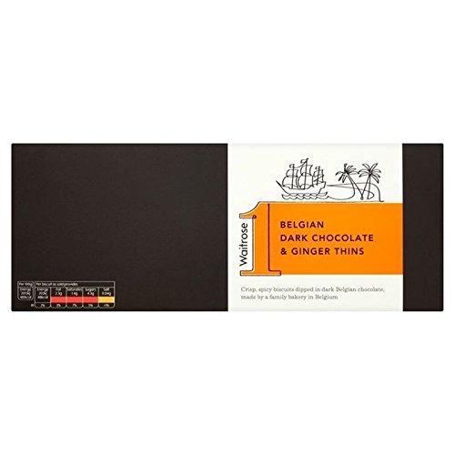 Belgische Dunkle Schokolade Ingwer Dünnt Waitrose 100G (Packung mit 4) (Dunkle Schokolade-cracker)