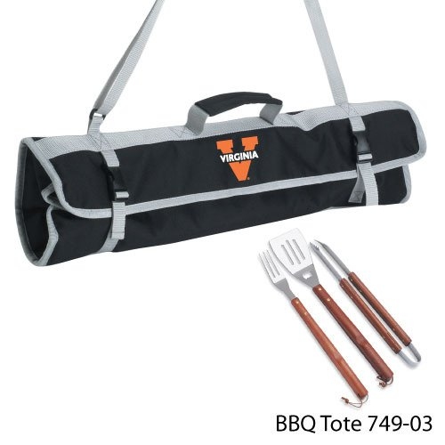 NCAA Virginia Caveliers 3-Piece BBQ Tool Set With Tote -
