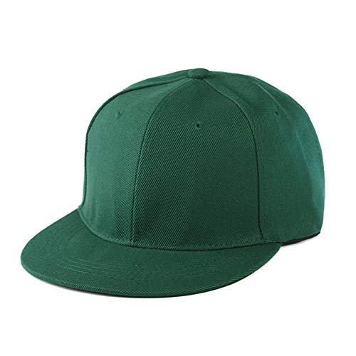 DAMENGXIANG Gorra De Béisbol Plana Lisa Ajustable del Color Sólido De Las Mujeres De Los Hombres Verde Oscuro