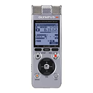 Olympus DM-650 Registratore Vocale Digitale Stereo, Argento