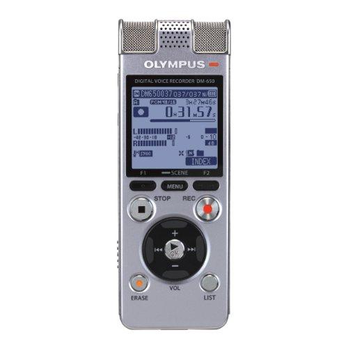Olympus DM-650 Diktiergerät (4GB, Micro SD-Kartenslot, USB, Podcast, 3.0 Mikrosystem, Metallgehäuse, inkl. Akku, Software & Ohrhörer)