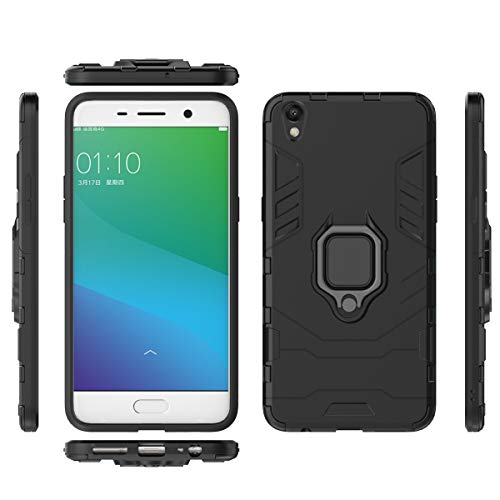 fitmore Oppo R9 Plus Hülle Slim Hülle [ Rückseite ] with Phone Case Slim Drop Protection for Oppo R9 Plus (Black)