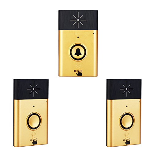 Festnight Gegensprechanlage Türsprechanlage, Wireless Voice Intercom Türklingel mit Außengerät Taste + Innengerät Empfänger