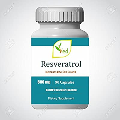 Resveratrol 500 mg x 90 Capsules (3 months supply) by Ved