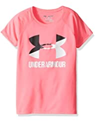 Under Armour UA Big Logo SS massif fille t à manches courtes pour homme, Fille, UA Solid Big Logo SS T