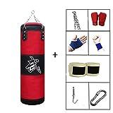 GYFHMY Sacco da Boxe Boxing 7 in 1 con Catene - Sacchetto di Sabbia per muscolatura da Palestra con Guanti - Allenamento di velocità del Punch per Taekwondo, Muay Thai, Allenamento, Borse vuote