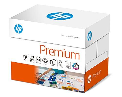 Hewlett-Packard CHP 850 Premium Druckerpapier 80 g DIN-A4, 2.500 Blatt, hochweiß, extraglatt, 5 Pack = 1 Karton