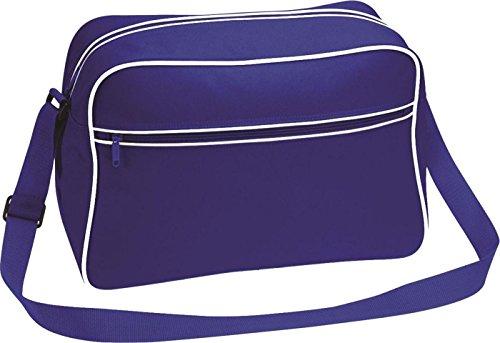 Neue Bagbas'Umhängetasche, Retro-Stil, verstellbar, mit Kontrast-Messenger Tasche - Pure Green/White